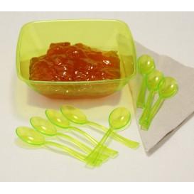 Cuchara de Plastico Premium Verde 160mm (10 Uds)