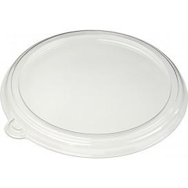 Tapa Plana de Plástico PET Cristal Ø21cm (25 Uds)