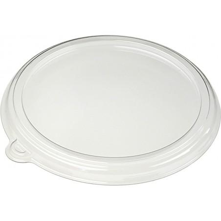 Tapa Plana de Plástico PET Cristal Ø21cm (150 Uds)