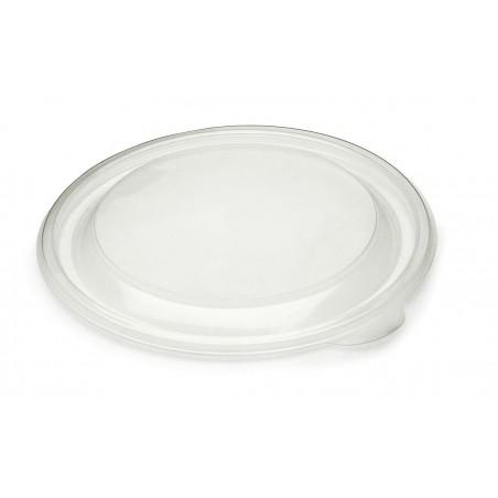 Tapa de Plastico Rigida Transp. Ø23cm (75 Uds)