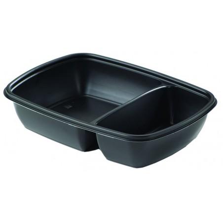 Envase de Plastico PP 2C Negro 900ml 23x16,5x5cm (300 Uds)