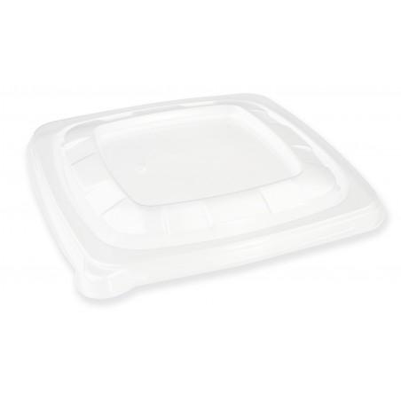 Tapa Plastico PET Transparente Bol 130x130mm (500 Uds)