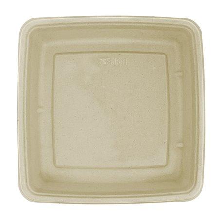 Envase Caña de Azúcar Cuadrado 230x230x40mm (75 Uds)