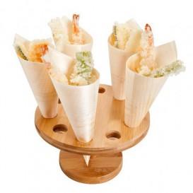 Stand de Bambú para Cucurucho 10 Huecos (12 Uds)