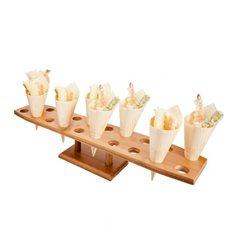Stand de Bambú para Cucurucho 20 Huecos (8 Uds)