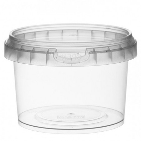 Envase de Plastico redondo inviolable 280 ml Ø9,5 (95 Uds)