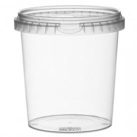 Envase Plastico con Tapa Inviolable 870 ml Ø11,8 (19 Uds)