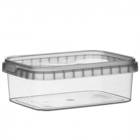 Envase Plastico Rectangular inviolable 280ml 120x88mm (384 Uds)