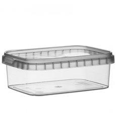 Envase Plastico Rectangular inviolable 280ml 120x88mm (384 Uds)