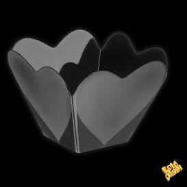 """Bol de Plástico """"Cupido"""" Negro 68 ml (25 Uds)"""