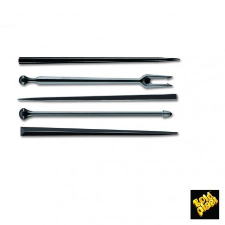 Pick de Plastico Snack Stick Negro 90 mm (1650 Uds)
