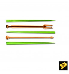 Pick de Plastico Snack Stick Multicolor 90 mm (6600 Uds)