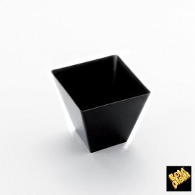Vaso Degustacion Rombo Negro 95 ml (500 Unidades)