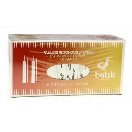 Palillos de Madera 2 Puntas Enfundado Papel 65mm (1 Ud)