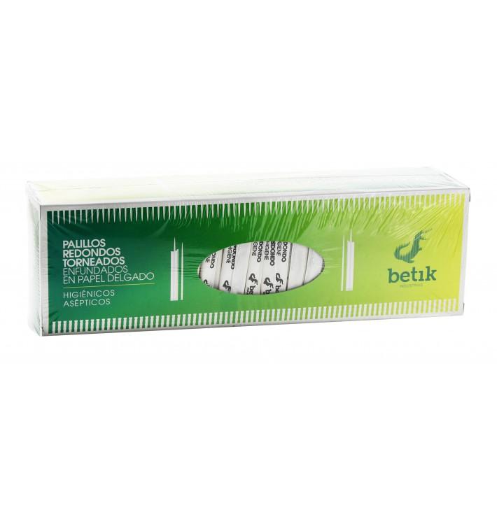 Palillos de Madera Torneado Enfundado Papel 65mm (1 Ud)