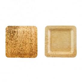 Plato Cuadrado de Bambú 120x120x10mm (100 Uds)