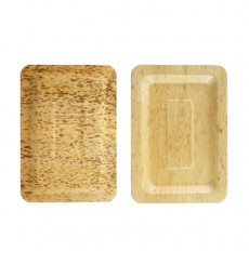 Bandeja de Bambú 20x14x1cm (100 Uds)