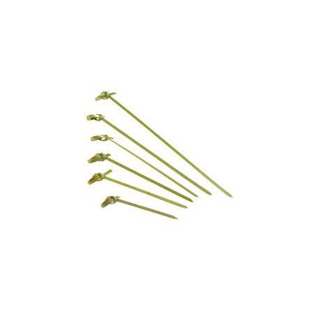 Pinchos de Bambu Decorados Lazo 180mm (100 Uds)