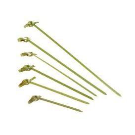 Pinchos de Bambu Decorados Lazo 180mm (2000 Uds)