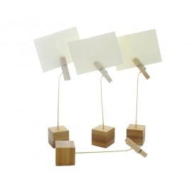 Soporte para Tarjetas de Bambu 130mm (144 Uds)
