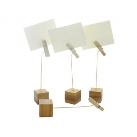 Soporte para Tarjetas de Bambu 130mm (12 Uds)