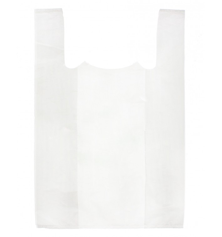 Bolsa Plastico Camiseta 85x100cm Blanca (250 Unidades)