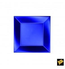 Plato de Plastico Llano Azul Nice Pearl PP 180mm (300 Uds)
