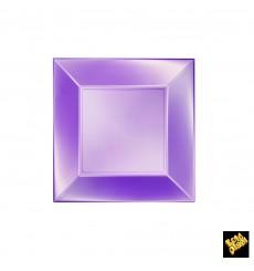 Plato de Plastico Llano Violeta Nice Pearl PP 180mm (300 Uds)