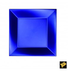 Plato de Plastico Llano Azul Nice Pearl PP 230mm(300 Uds)