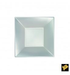 Plato de Plastico Hondo Plata Nice Pearl PP 180mm (300 Uds)