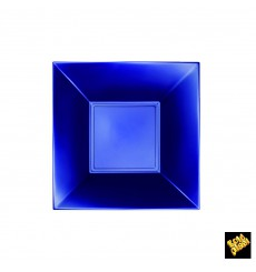 Plato de Plastico Hondo Azul Nice Pearl PP 180mm (300 Uds)