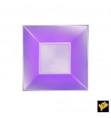 Plato de Plastico Hondo Violeta Nice Pearl PP 180mm (300 Uds)