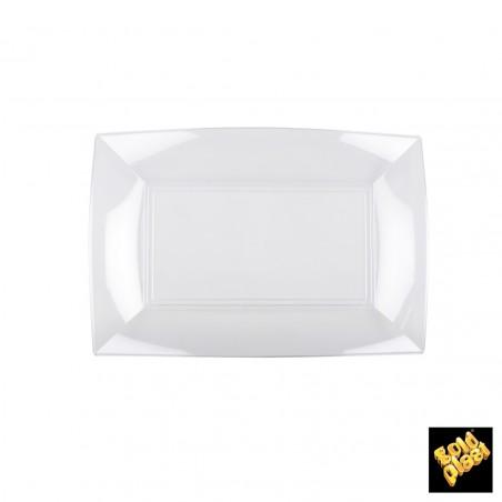 Bandeja de Plastico Rectangular Transp. 280x190mm (12 Uds)