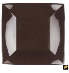 Plato de Plastico Llano Marron Nice PP 290mm (144 Uds)