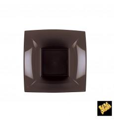 Plato de Plastico Hondo Marron Nice PP 180mm (25 Uds)