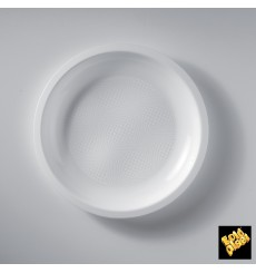 Plato de Plastico Llano Blanco Round PP Ø220mm (50 Uds)