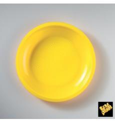 Plato de Plastico Llano Amarillo Ø220mm (50 Uds)