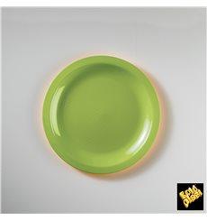Plato de Plastico Llano Verde Lima Ø185mm (300 Uds)
