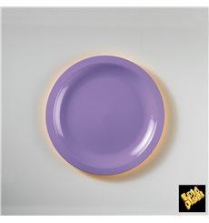 Plato de Plastico Llano Lila Round PP Ø185mm (600 Uds)