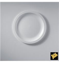 Plato de Plastico Llano Blanco Round PP Ø185mm (600 Uds)