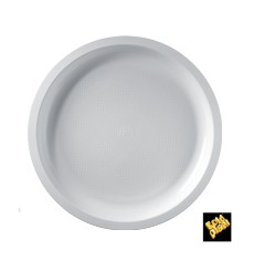 Plato de Plastico Blanco Round PP Ø290mm (25 Uds)