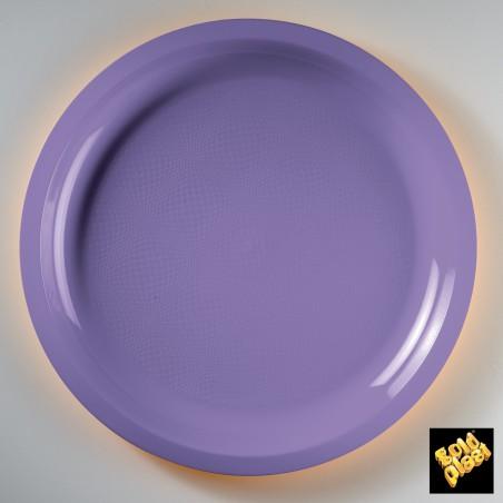 Plato de Plastico Lila  Ø290mm (25 Uds)
