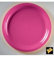 Plato de Plastico Fucsia Round PP Ø290mm (300 Uds)