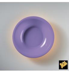 Plato de Plastico Hondo Lila Round PP Ø195mm (50 Uds)