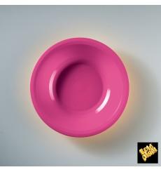 Plato de Plastico Hondo Fucsia Round PP Ø195mm (600 Uds)