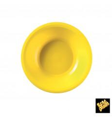 Plato de Plastico Hondo Amarillo Round PP Ø195mm (50 Uds)