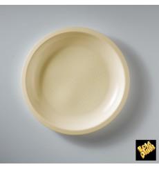 Plato de Plastico Llano Crema Round PP Ø220mm (600 Uds)