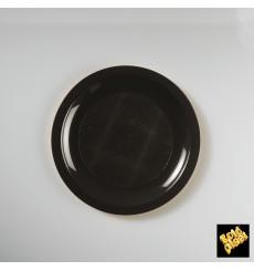 Plato de Plastico Llano Negro Round PP Ø185mm (600 Uds)