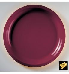 Plato de Plastico Burdeos Round PP Ø290mm (300 Uds)