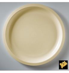Plato de Plastico Crema Round PP Ø290mm (25 Uds)